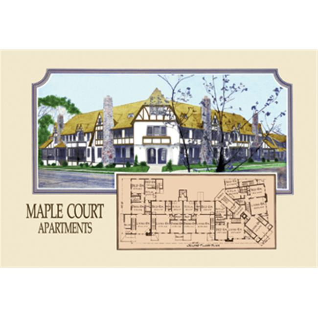 Maple Court Apartments: Buy Enlarge 0-587-08463-4P12x18 Maple Court Apartments