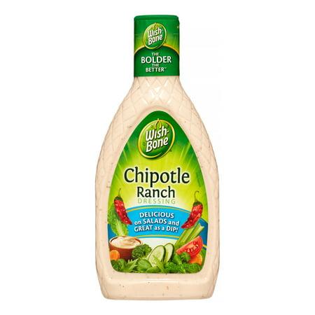 (3 Pack) Wish-Bone Salad Dressing, Chipotle Ranch, 15 Fl Oz