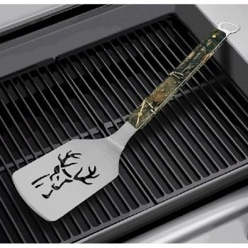 MOR/ryde 7010755 Spatula Sportula (R) Grilling Spatula; Camo Buck Logo Design; Stainless Steel Blade With Maple Handle; With Bottle Opener On The End Of The Handle - image 1 of 1
