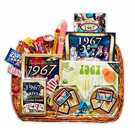 50th Birthday Or Anniversary Gift Basket