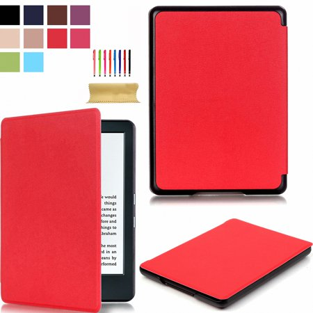 "Dteck For 6"" Amazon New Kindle 2016 Slim Flip PU Leather Case Smart Ebook Cover Red"