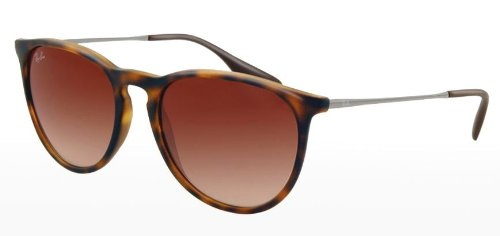 ray ban mens brown sunglasses 0rb4171  ray ban rb4171 erika sunglasses 865/13 rubberized havana (brown gradient lens)