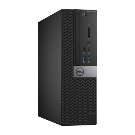 Refurbished - Dell OptiPlex 7040, SFF, Intel Core i5-6500 up to 3.60 GHz, 8GB DDR3, 4TB HDD, DVD-RW, Wi-Fi, USB to HDMI Adapter, NEW Keyboard + Mouse, Win10 Pro 64 - image 1 of 3