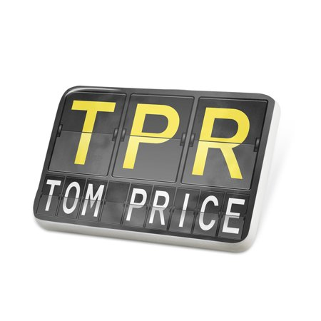 Porcelein Pin Tpr Airport Code For Tom Price Lapel Badge   Neonblond