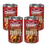 (4 Pack) Campbell's Chunky Steak & Potato Soup, 18.8 oz.