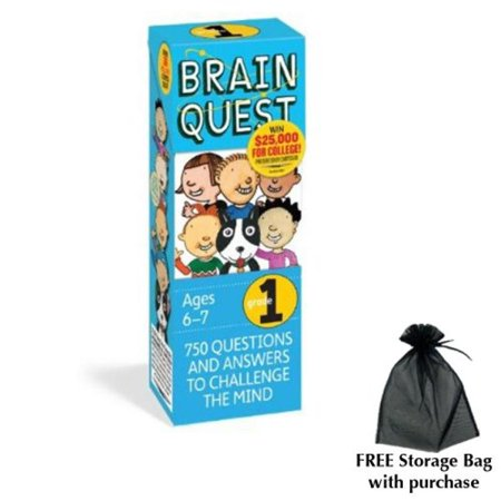 Brain Quest for Grade 1 with free storage bag (Free Wolf Quest)