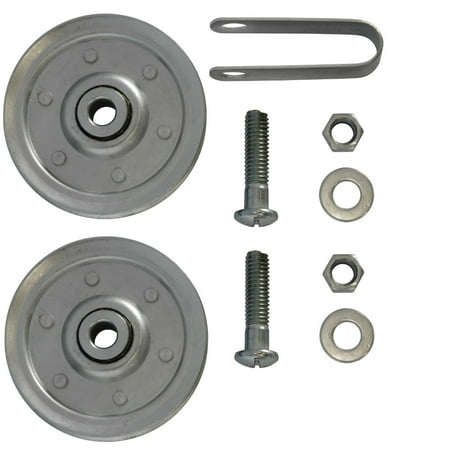 3 inch Garage Door Pulleys with fork and bolts (2