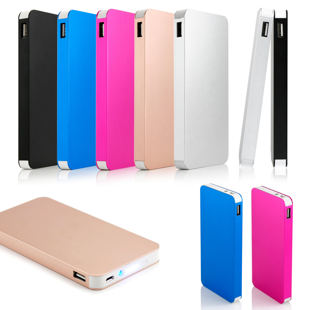 10000mah Ultra Thin Dual USB External Portable Power Bank Backup Battery Charger for Cell Phone