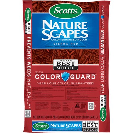Scotts Nature Scapes Color Enhanced Mulch Sierra Red, 2 cu (Best Straw For Garden Mulch)