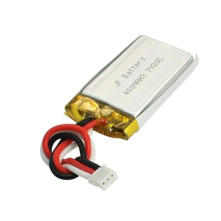 3.7V 400mAh 20C Rechargeable Li-po Lithium Polymer Battery for RC Airplane