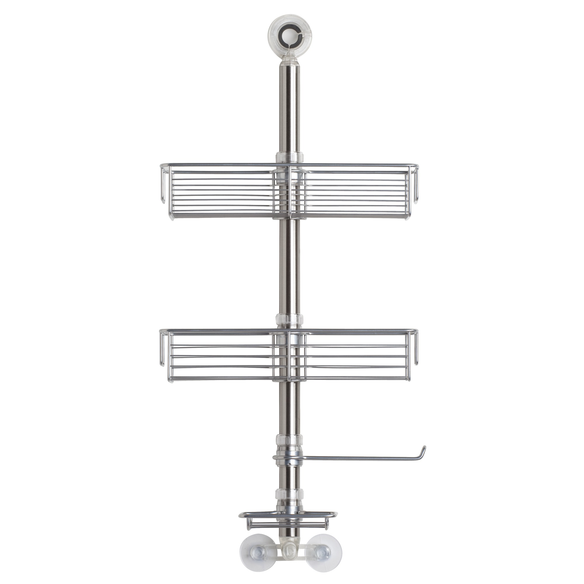 InterDesign Forma Brushed Stainless Steel Shower Caddy with 2 Tiers, Silver by INTERDESIGN