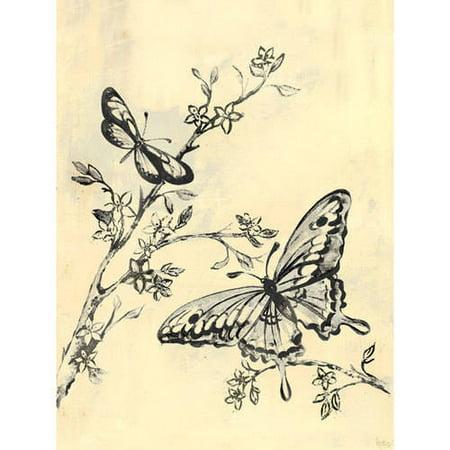 Oopsy Daisy - Toile Butterflies, Cream & Black Canvas Wall Art 18x24 ...