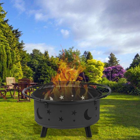 CNMODLE Outdoor Multifunction Fireplace Backyard Wood Burning Heater Steel Bowl Patio Fire