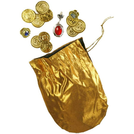 Adult Desert Prince Coins Pouch And Jewelry Set Costume - Halloween Coin Dozer