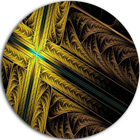Design Art 'Intricate Multi-colored Cross' Graphic Art Print on Metal