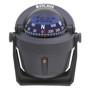 Ritchie B-51G Bracket Mount Explorer Compass, Grey with Blue Dial