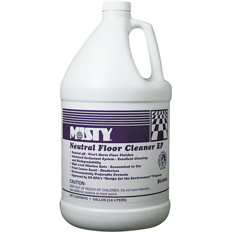 Misty Lemon Neutral Floor Cleaner EP, 1 gal, (Pack of 4)
