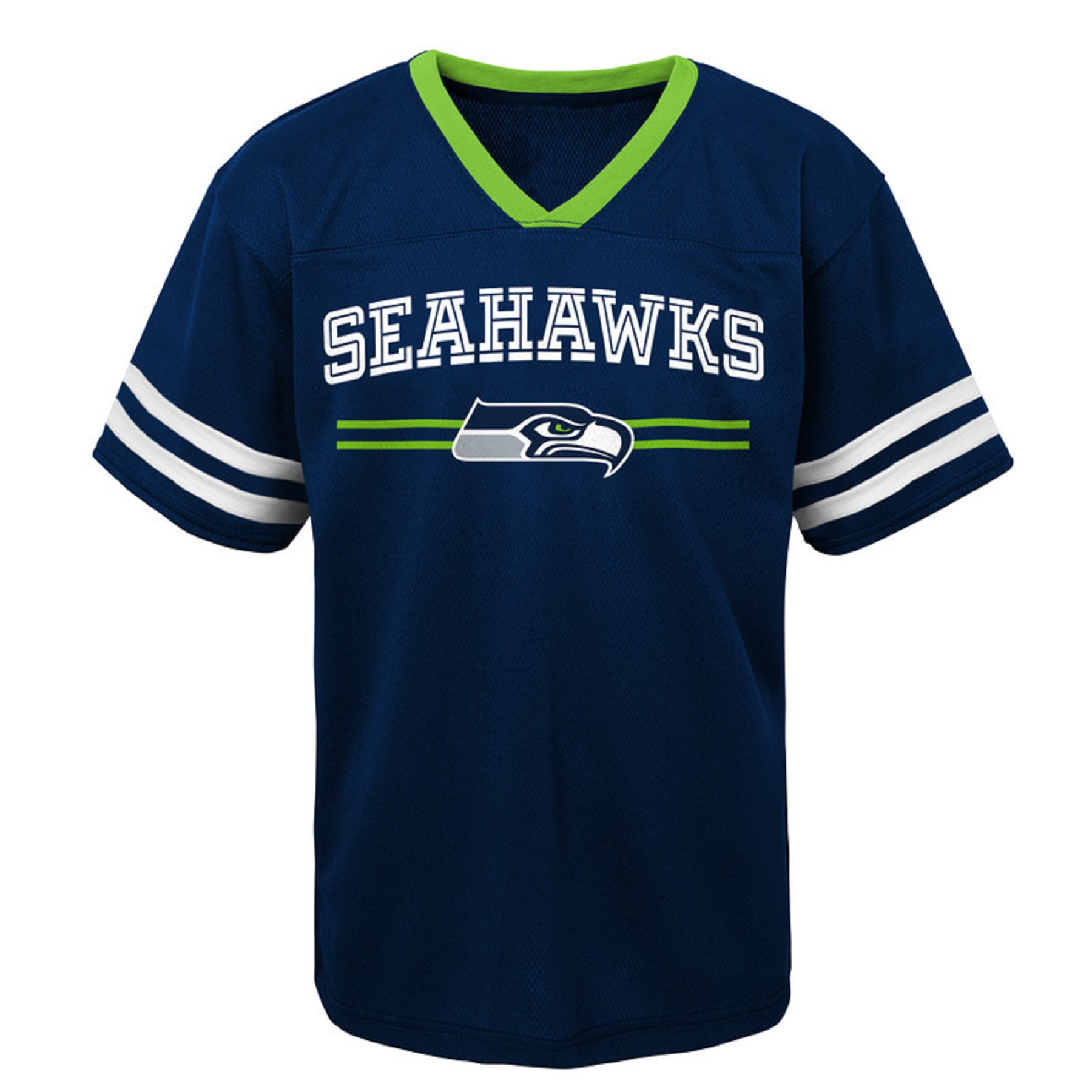 Youth College Navy Seattle Seahawks Mesh V-Neck T-Shirt