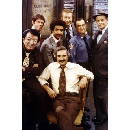 Jack Soo, Ron Glass, Max Gail, Hal Linden TV Cast Barney Miller 24X36 (Barney With Glasses)