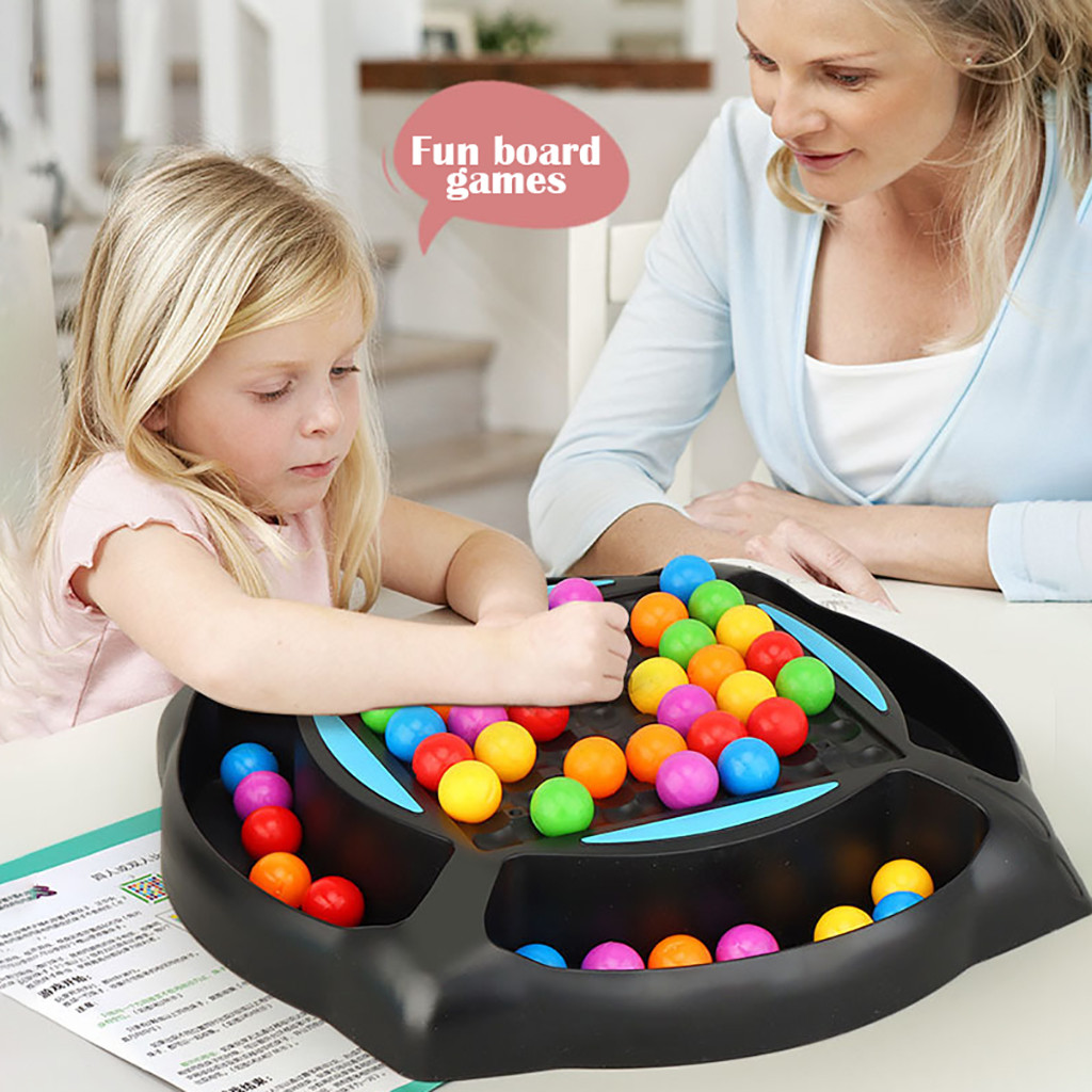 Rainbow Ball Elimination Game Puzzle Magic Chess Toy Set for Kid Adult