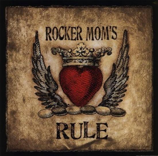 Rocker Mom's Rule Poster Print by Stephanie Marrott (12 x 12)