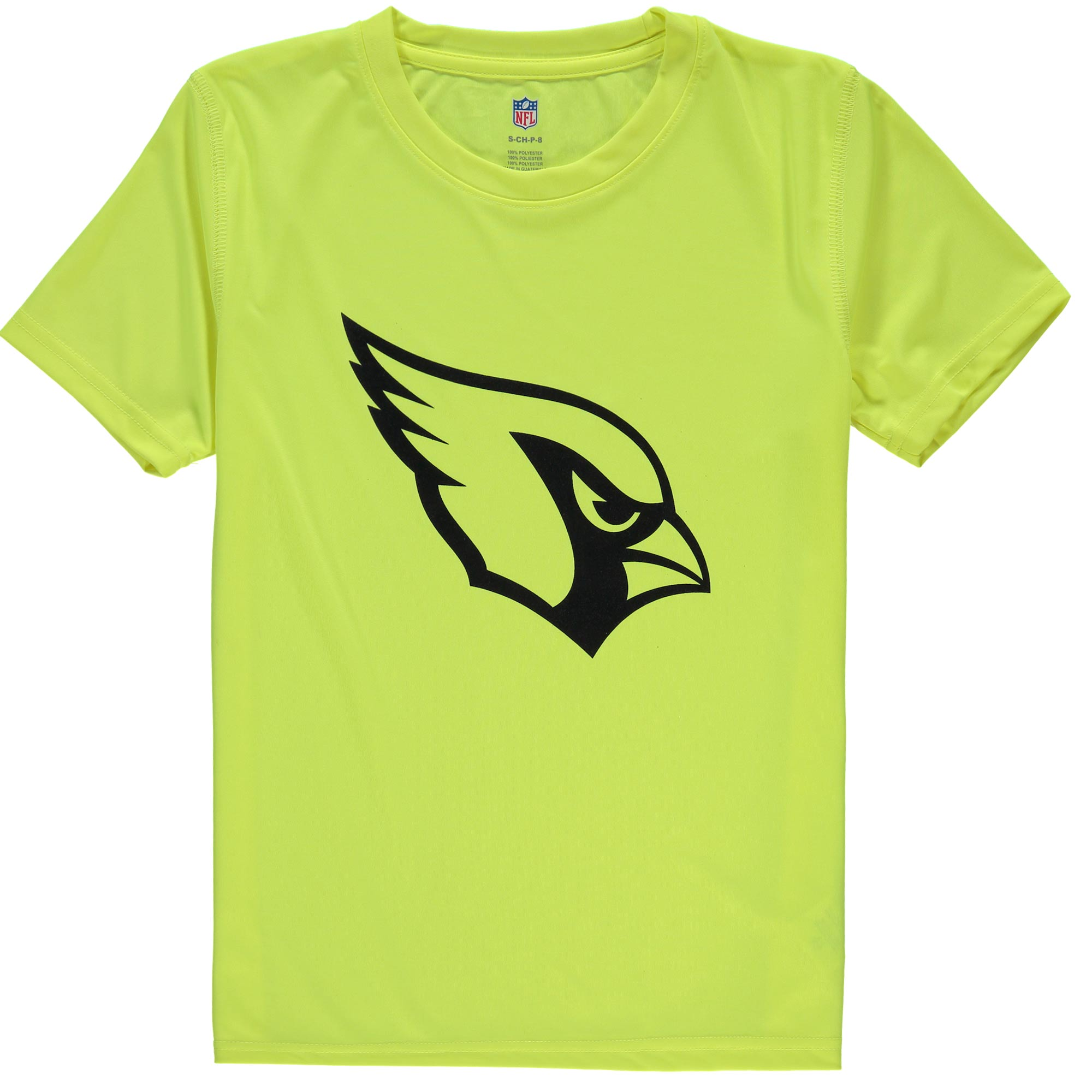 Arizona Cardinals Youth Neon Logo T-Shirt - Yellow - Yth M