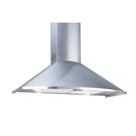 "Equator TRC 36 Trapezoid Curved Series 36"" Externally Vented Range Hood Stainless Steel"