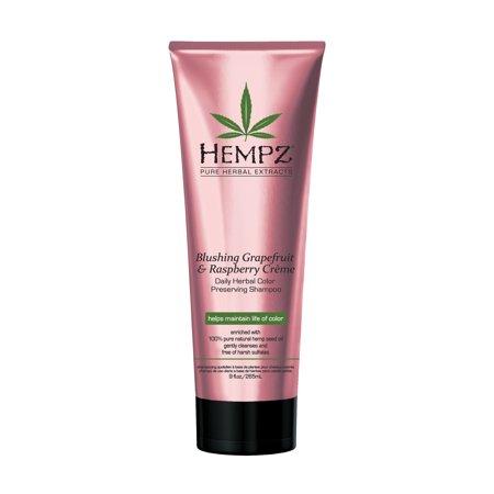 Hempz Blushing Grapefruit & Raspberry Crème Color Preserving Herbal Shampoo 9 oz.
