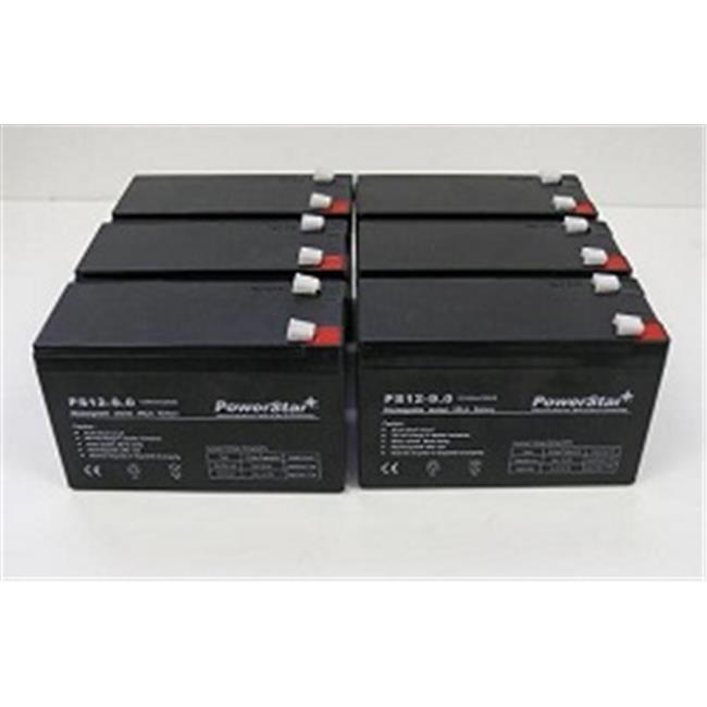 PowerStar PS12-9-6Pack3 -12V, 9Ah Battery Replaces CP1290 6-DW-9 HR9-12 PS-1290F2