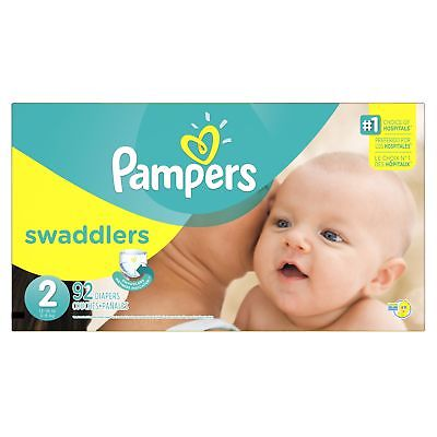 Pampers Swaddlers Diapers, Size 2, 92 Count
