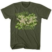 Beetle Bailey Men's  Camo Case T-shirt Army Green