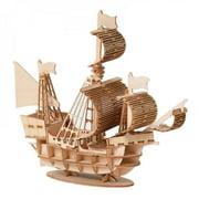 Promotion Clearance!Assembling Building Kits Ship Model Wooden Sailboat Toys Sailing Model Assembled Wooden Kit DIY