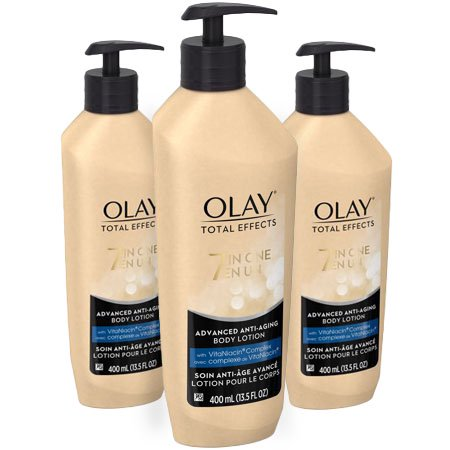 (3 Pack) Olay Total Effects Advanced Anti-Aging Body Lotion, 13.5 fl (Effects Of Yeast Overgrowth In The Body)