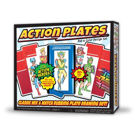 Action Plates Rub and Color Design Set Cool Designs To Color