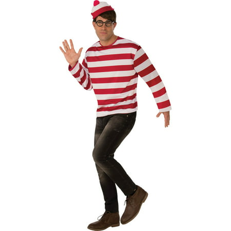 Where's Waldo Adult Halloween Costume - Cheap Halloween Couples Costumes For Adults