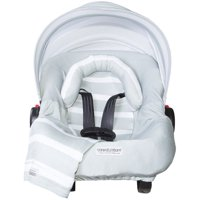 Carseat Canopy (No Car seat Included) 5 pc Whole Caboodle Baby Car seat Cover set Jersey Stretch Gray Stripes