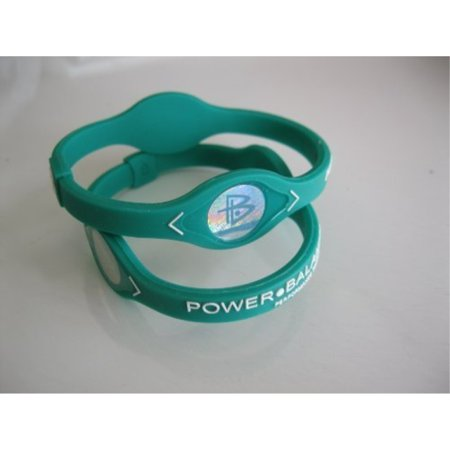 power balance wristband silicone bracelet large green w/ white letters](Wristband Light)