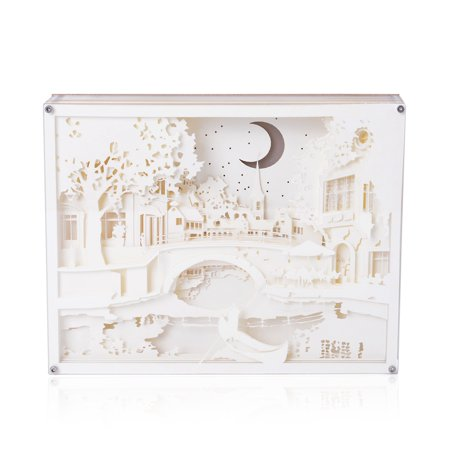 Astonishing Shop Lc Decorative 3D Paper Cut Light Box With Usb Cable 3Aaa Batteries Not Included 10X8 Interior Design Ideas Truasarkarijobsexamcom