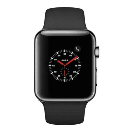 Apple Watch Series 3, 38MM, GPS + Cellular, Space Black Stainless Steel Case, Black Sport Loop (Non-Retail Packaging) ()