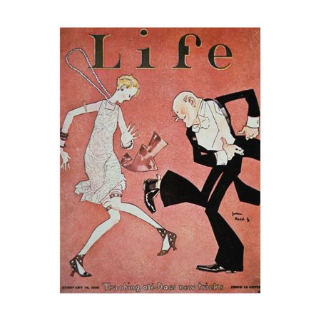 Dancing the Charleston During the 'Roaring Twenties', Cover of Life Magazine, 18th February, 1928 Vintage 1920s Print Wall Art](Roaring Twenties Themed Centerpieces)