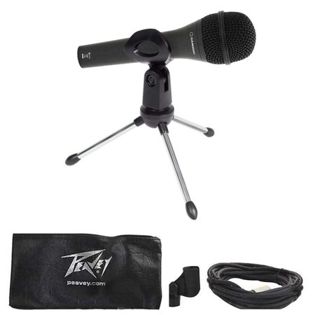 peavey dynamic podcasting podcast microphone stand pop filter shock mount cable. Black Bedroom Furniture Sets. Home Design Ideas