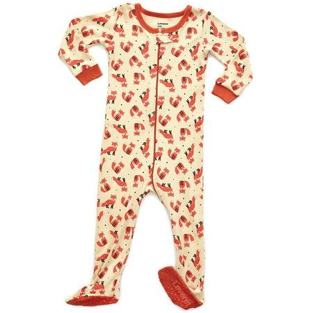 da82d6962c18 Leveret - Leveret Fox Footed Pajama Sleeper 100% Cotton 100% Cotton ...