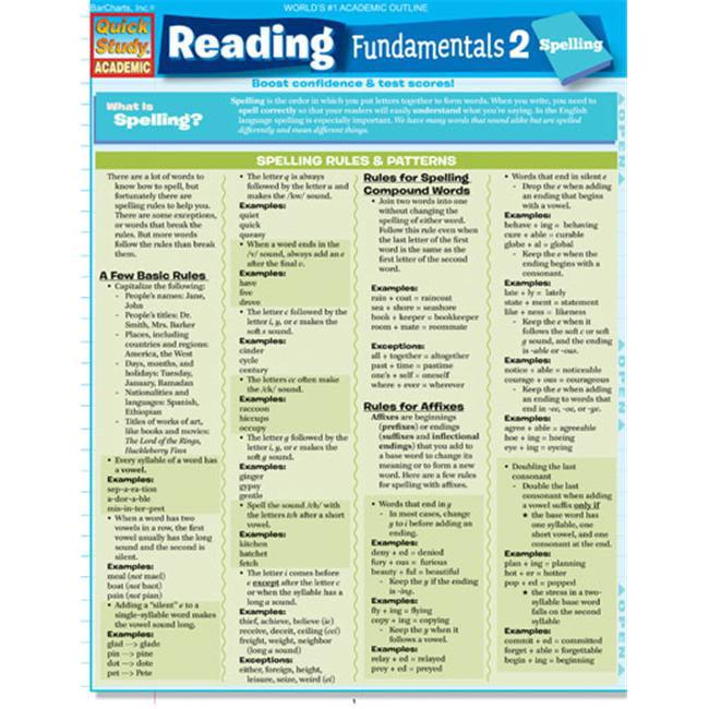 BarCharts- Inc.  9781423214410 Reading Fundamentals 2