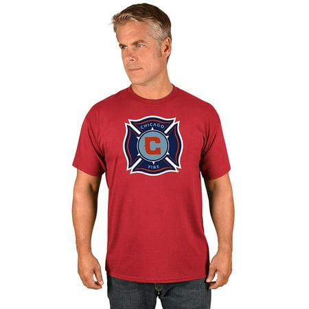 Chicago Fire Tshirts (Majestic Chicago Fire MLS Men's Team Logo T-shirt)