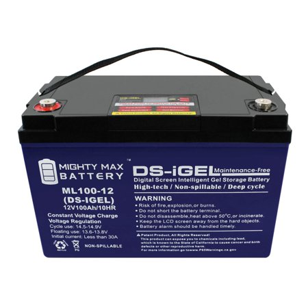 12V 100AH GEL Battery Replaces SolarPod Standalone Power System - image 5 de 6