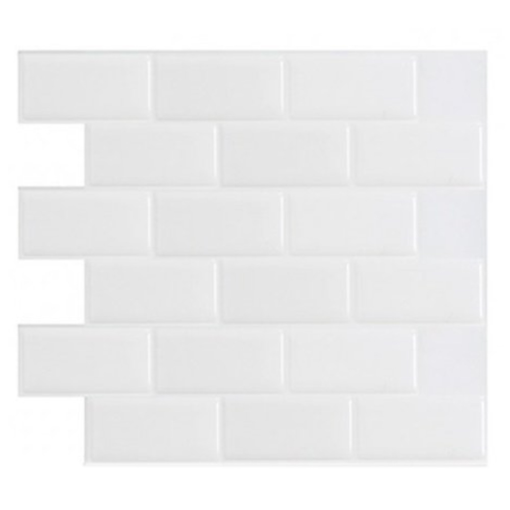 """12""""X12"""" Peel And Stick Tile For Kitchen Backsplash, Subway A50 White (6 Sheets) by Art3d"""