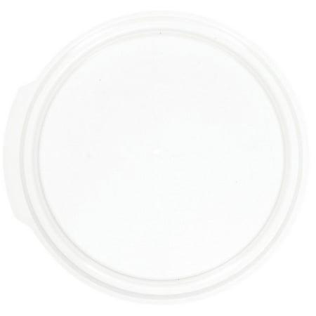 """Cambro Camwear� 1 qt Translucent Plastic Round Lid - 5 3/4""""Dia (RFS1SCPP190)"""