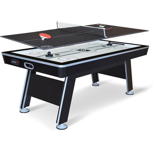 EastPoint Sports 6.6u0027 NHL Air Powered Hover Hockey Table With Table Tennis  Top