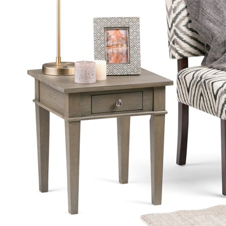 Atlin Designs Square End Table in Farmhouse Gray - image 5 of 6