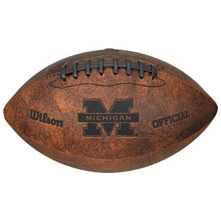 NCAA Vintage Football, University of Michigan Wolverines Michigan Wolverines Brown Football